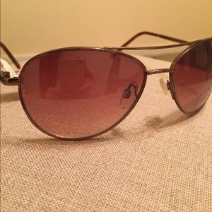 Anthropologie Rose Gold Aviator Sunglasses